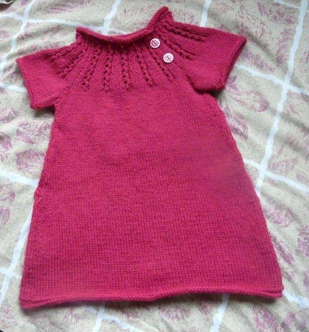 Modèle tricot robe bébé