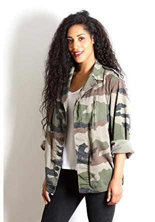 Veste femme camouflage