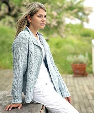 Modèle de veste à tricoter