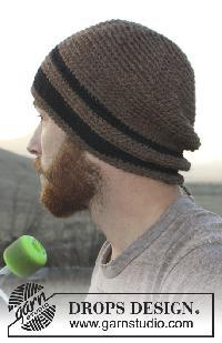 Bonnet homme tricot ou crochet