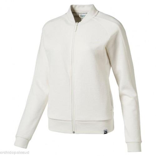 Veste zippée blanche femme