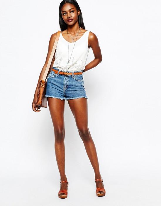 Short jean femme ronde