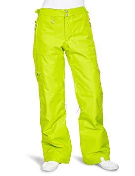 Pantalon de ski vert fluo femme