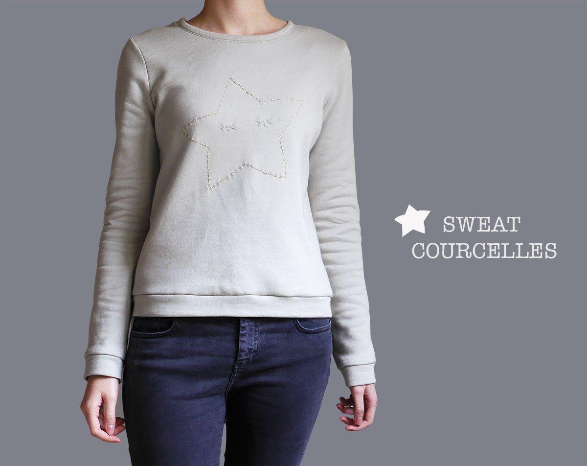 Sweat shirt femme patron